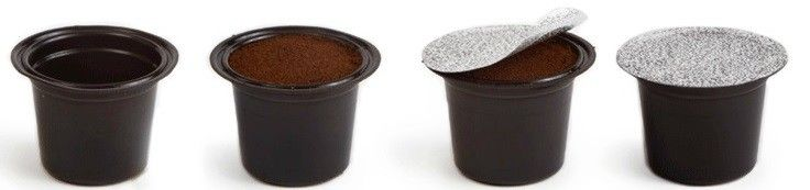 Caja 100 cápsulas Nespresso rellenables Capsul'in