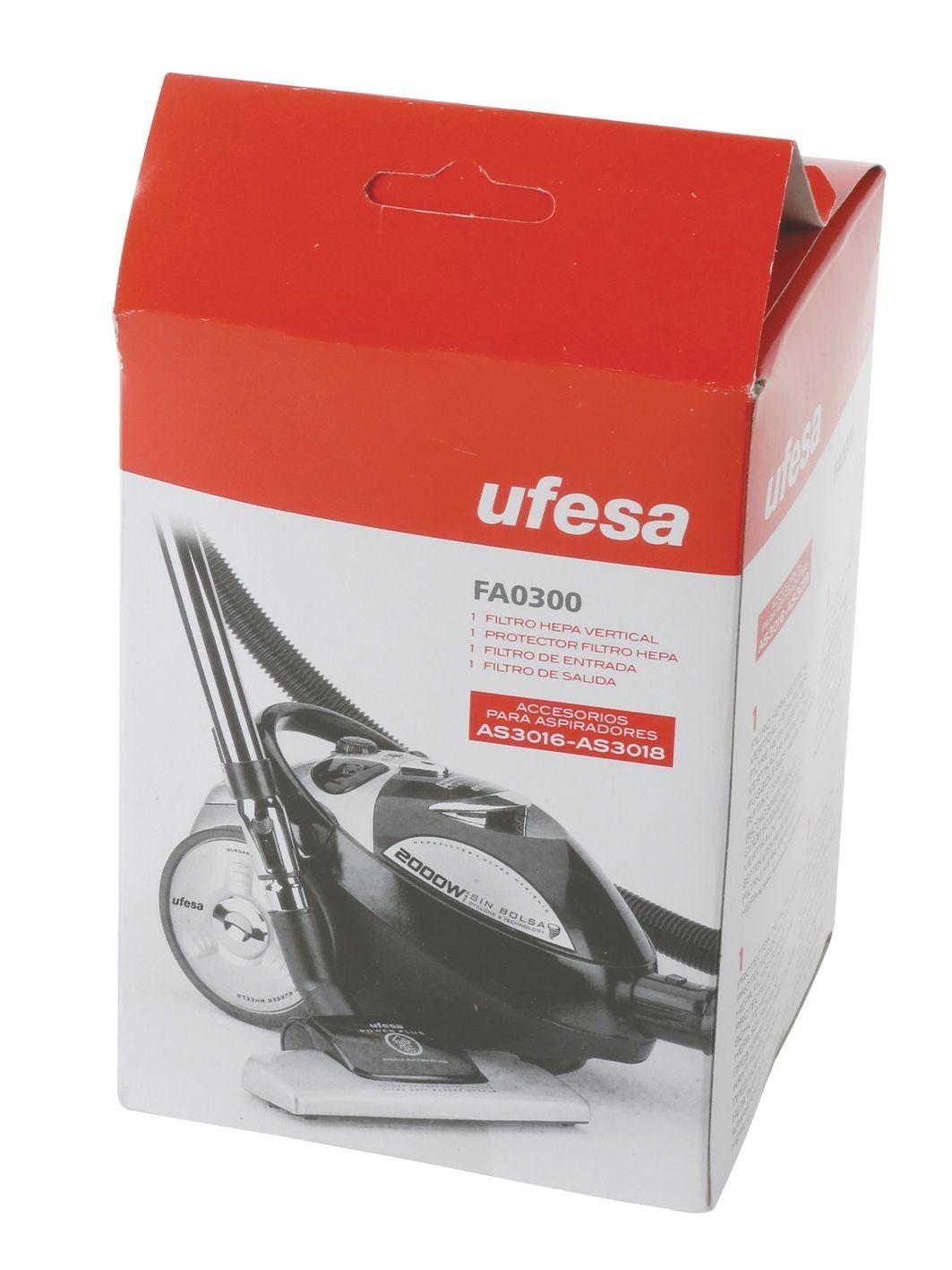 Filtro HEPA c/protector + filtros entrada y salida para aspirador Ufesa AS3016-AS3018
