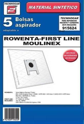 Bolsas aspirador Rowenta, Moulinex, First Line