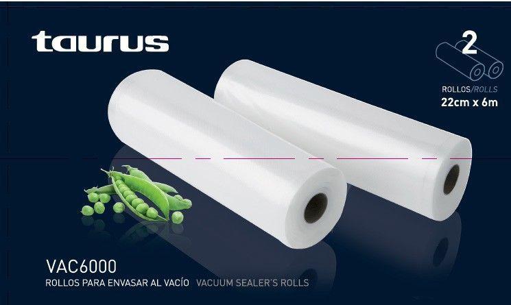 Bolsas envasadora al vacío Taurus VAC6000 x 2 rollos