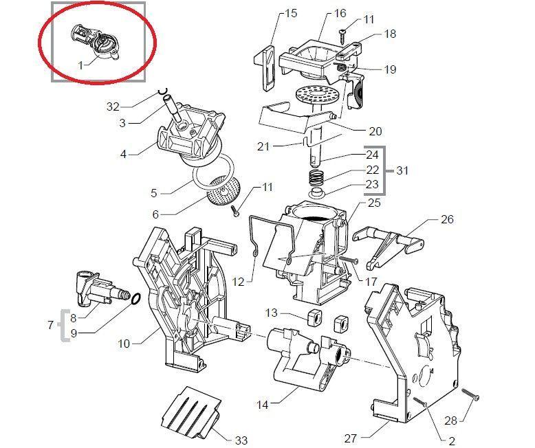 Válvula mecanismo Saeco Xelsis, Exprelia, Minuto