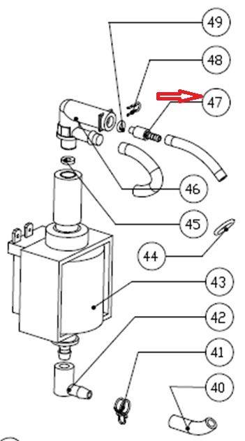 Racord conexion rapida cafetera Mini Moka M363i versión antigua