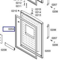 Goma congelador Bosch KGN39