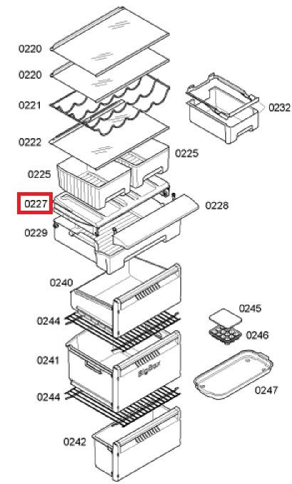 Bandeja guia nevera Siemens KGN-AV 600