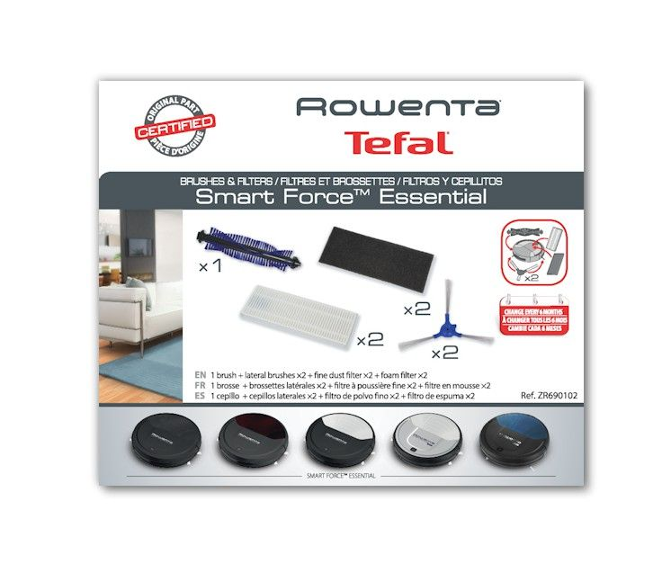 Cepillitos + filtros + rodillo Rowenta Smart Force Essential