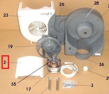 Bandeja extractor SP CK25N