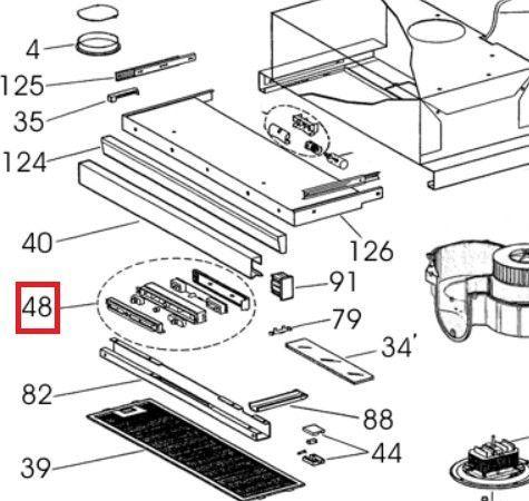 Conjunto interruptor mandos SP campana GET60 NF bimotor