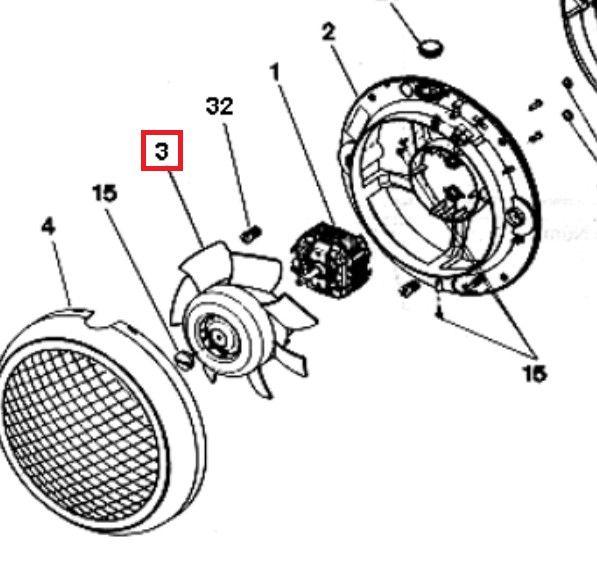 Helice SP HCM180N diámetro eje 8 mm.