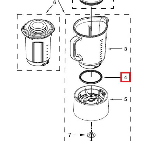 junta jarra kitchen aid 5KSB5553