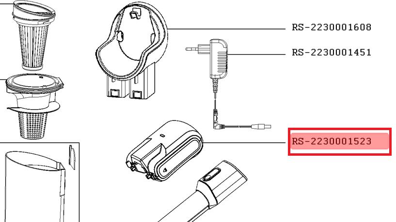 bateria moulinex xpert 160