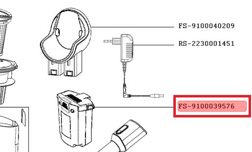 bateria rowenta x pert 3.60 22.2v