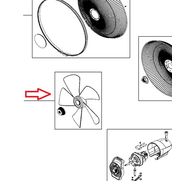 helice ventilador rowenta turbo silence
